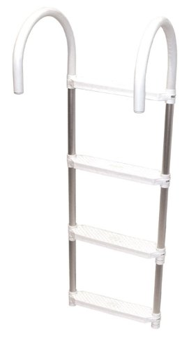 Shoreline Marine Ladder Aluminum 4 Step Folding