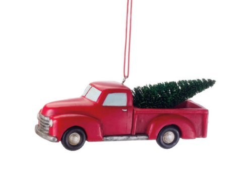 - Midwest CBK 4 Inch Pickup Truck With Tree Ornament