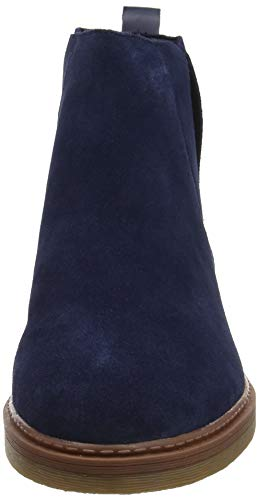Suede Botas Mujer Navy Madeline para Chelsea Clarks Dove Azul qxfHpFF8w