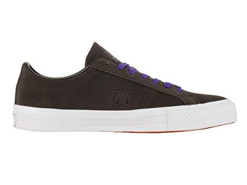 Converse Unisex En Stjärna Pro Läder Oxe Skatesko Varm Kakao / Svart / Vit