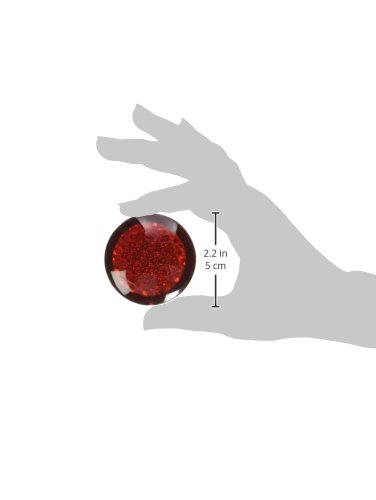 Pack of 2 RoadPro RP-3156 Red 1.75 Round Adhesive Light with Reflective Lens,