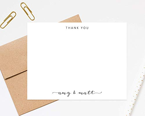 (Stationery for couple thank you cards wedding stationary notes with envelopes)