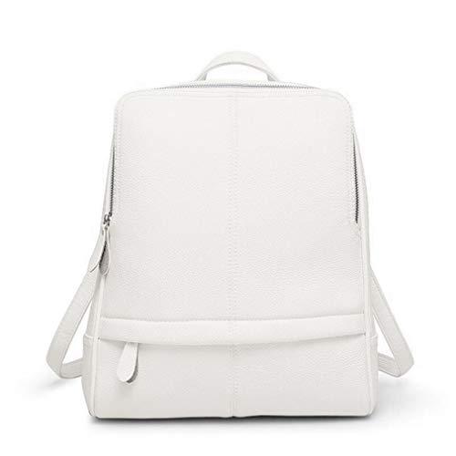 Pu Leather Female Women Schoolbag Travel Shoulder Bag Travel Leisure White Soft Student Backpack xRwrHAR0Y