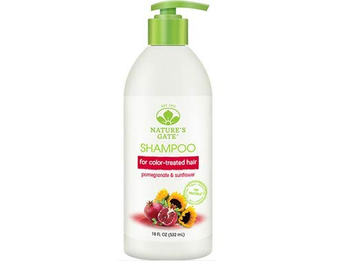 Natures Gate Shampoo, Vegan, Hair Defense, Pomegranate + Sunflower