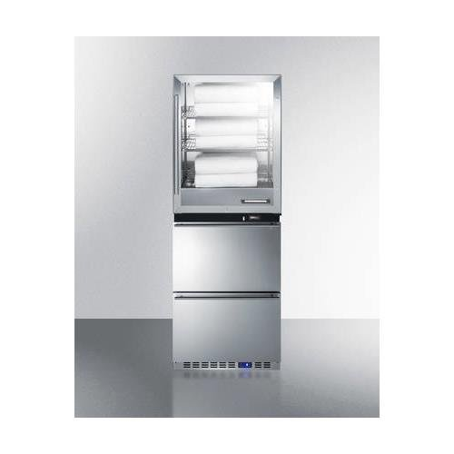 FRBW52D 24 4 cu. ft. Upper Warming Cabinet and 3.4 cu. ft. Lower Drawer Freezer with Digital Thermostat Energy Efficient Design and Professional Handles in Stainless Steel