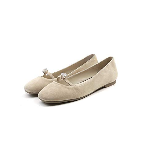 De Adeesu Cuentas Uretano Sdc06243 Albaricoque Zapatos Mujer Para Tacón Sólidas Con rAFrEqR