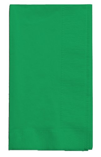 Creative Converting Touch of Color 2-Ply 50 Count Paper Dinner Napkins, Emerald -