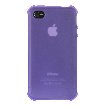 Dream Wireless Crystal Skin Case for iPhone 4/4S - Retail Packaging - Bumper-Purple Tinted IP:CSIP4VZBPPP-TN
