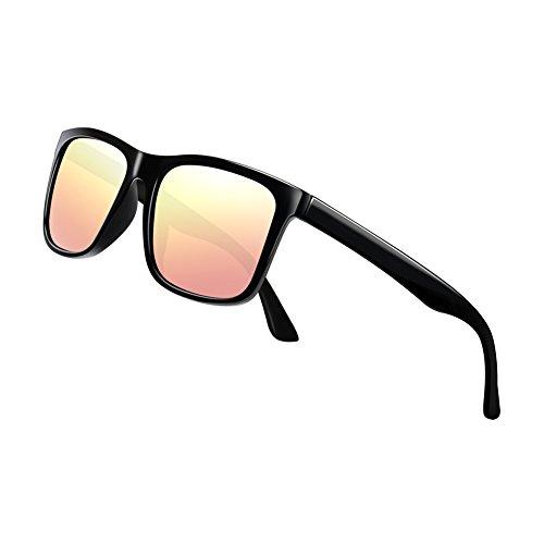 Polarized Sunglasses for Men TR90 Unbreakable Mens Sunglasses Driving Sun Glasses For ()