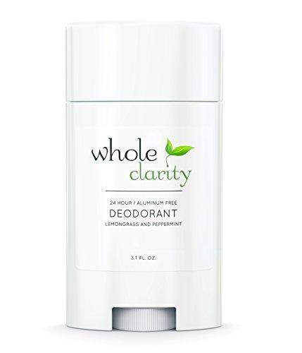 Aluminum Free Natural Organic Deodorant [Lemongrass Peppermint] for Men & Women - Vegan & Cruelty Free - High Performance - Hand Made in USA - 3.1 Oz (Deodorant Peppermint)