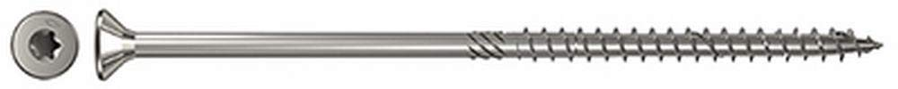 Fischer 657518/ Wood Screw Power-Fast 8.0/ x 160/ Countersunk Head Not Steel A2/ Partially Threaded Star Torx Pack of 50