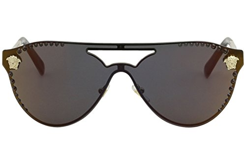02dffcae10 VERSACE Women's 0VE2161B 1252W6 42 Sunglasses, Pale Gold/Darkgreymirrorred:  Amazon.co.uk: Clothing
