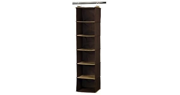 Amazon.com: Household Essentials – 6-shelf Hanging clóset ...