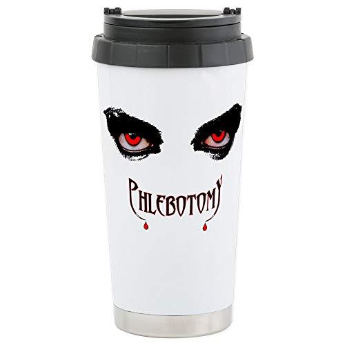 CafePress Phlebotomy Stainless Steel Travel Mug Stainless Steel Travel Mug, Insulated 16 oz. Coffee Tumbler
