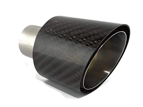 cartuner Carbon terminale di scarico 100/mm 60/mm attacco Exclusiv