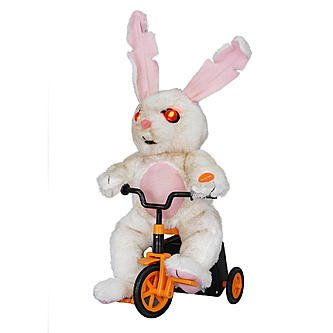 Totally Ghoul Animated Scary Bunny on (Clearance Halloween Props)