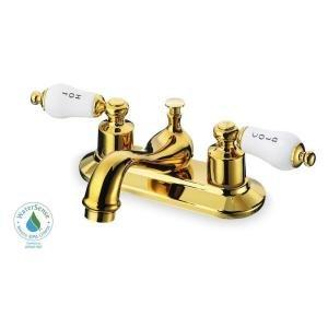 Glacier Bay Teapot 4 In 2 Handle Low Arc Bathroom Faucet In