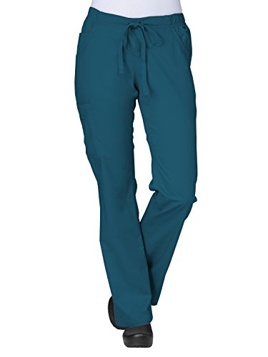 Maevn Women's Straight Leg Cargo Pants(Caribbean Cheeta, Medium)