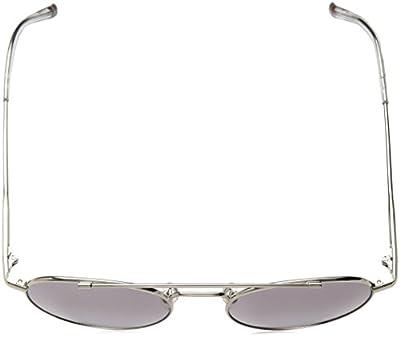 Calvin Klein Unisex Ck2148s Round Sunglasses, Silver, 51 mm
