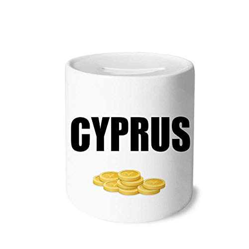 Unbranded Cyprus Country Name Money Box Printed Ceramic Coin Bank