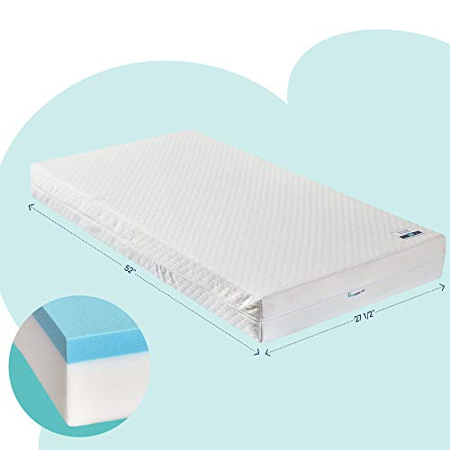 hiccapop Baby Crib Mattress [Dual Sided] w/Firm Side (for Babies)