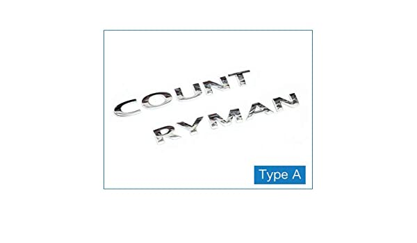 3d Metal Letters Stickers Rear Trunk Logo Emblems Car Words Sticker