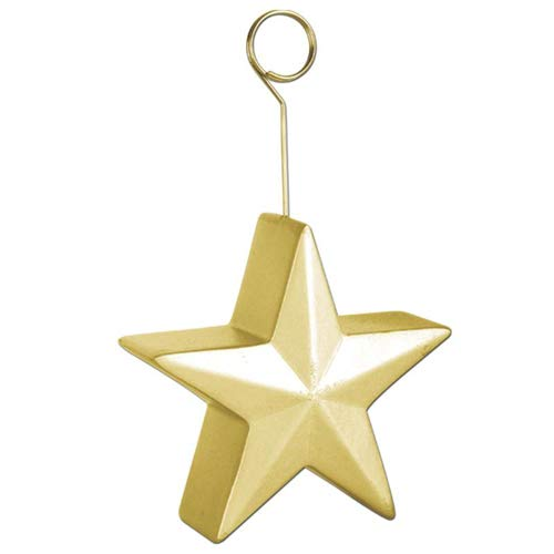Star Photo/Balloon Holder (gold) Party Accessory  (1 count)