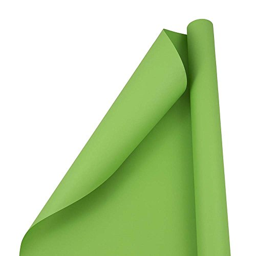 JAM PAPER Gift Wrap - Matte Wrapping Paper - 25 Sq Ft - Matte Lime Green - Roll Sold ()