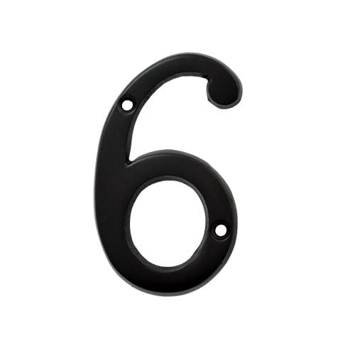 (#6) BOLTON 3 Inch Solid Brass Dark Oil Bronze Finish House Number Raised 1/6""