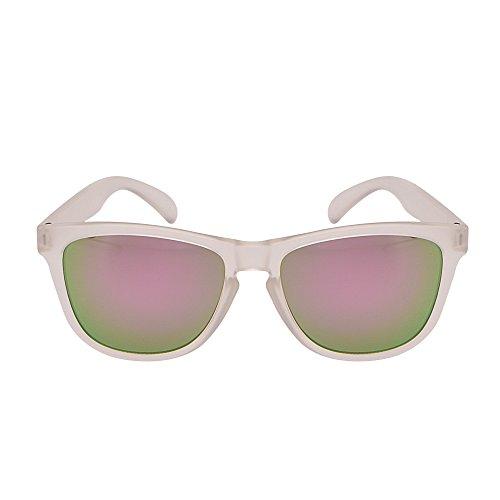 Femme Réfléchissant UV400 Violet Soleil Transparent Verre Rétro de Lunettes Solaire Miroir pour Léger Lunette Homme q8TwRnxB