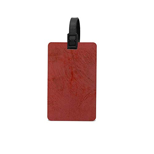 Lovwepilo Tuscan Red Venetian Plaster Luggage Tag Inspirational Motivational Travel Baggage ID Suitcase Labels Accessories