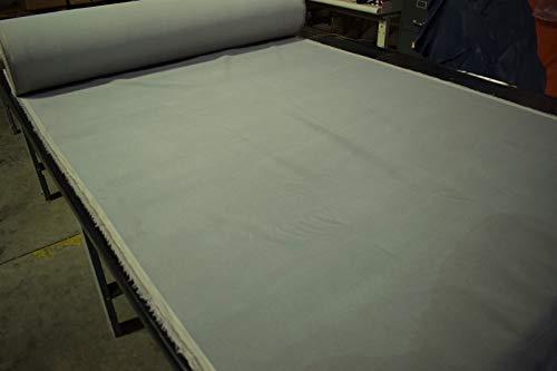 Pewter Gray Flocked Velvet Upholstery Sueded Fabric