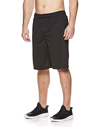 - Reebok Men's Mesh Basketball Gym & Running Shorts w/Elastic Drawstring Waistband & Pockets - Open Shot Black, X-Large