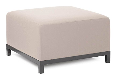 Howard Elliott Q902-897 Axis Ottoman Slipcover, Starboard Stone by Howard Elliott Collection