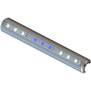 Taco Metals Marine LED T-Top Pipe Mount Light, 16-Inch, White 1080 Lumens/Blue 540 Lumens