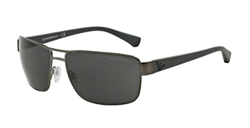 Emporio Armani Men's Gun Metal, Grey In Matt Frame/Black Lens Non-Polarized Sunglasses 62 0