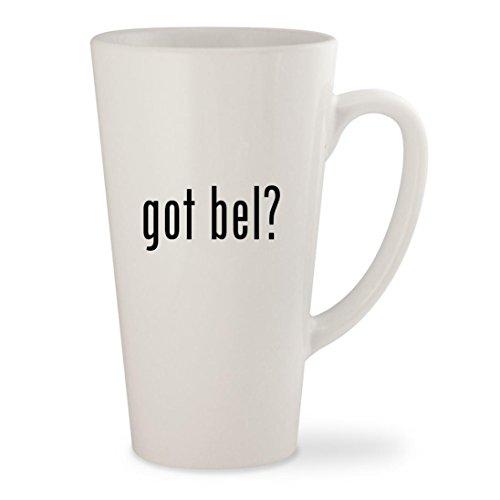 got bel? - White 17oz Ceramic Latte Mug Cup