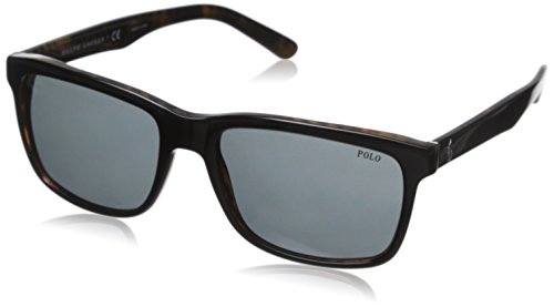 Polo Ralph Lauren Men's 0ph4098 Square, Top Black On Jerry Tortoise, 57 mm ()