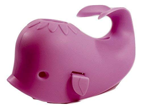 Aurelie Live Well Faucet Cover Baby (Pink Whale) & Bath Toy Organizer for Kids Bath Toys and Comes with 5 Bath Tub Squirts/Toys