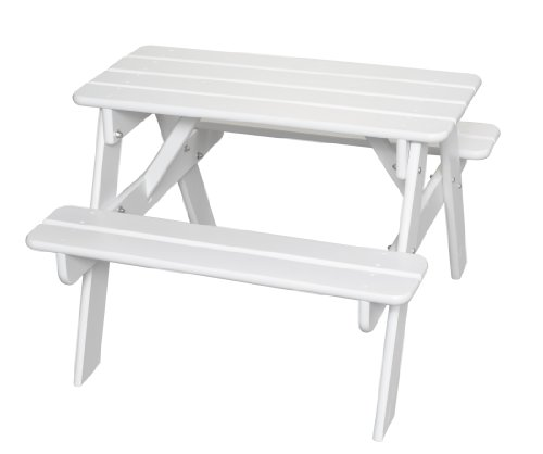 Little Colorado Child's Picnic Table- White (Colorado Picnic Tables Furniture Outdoor)