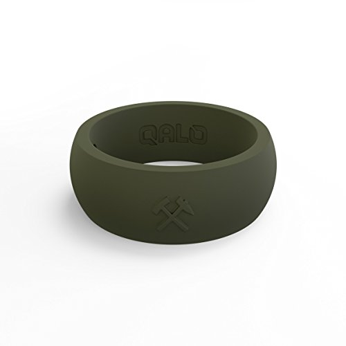 QALO Men's Sage Green Classic Quality Q2X Silicone Ring Size 12