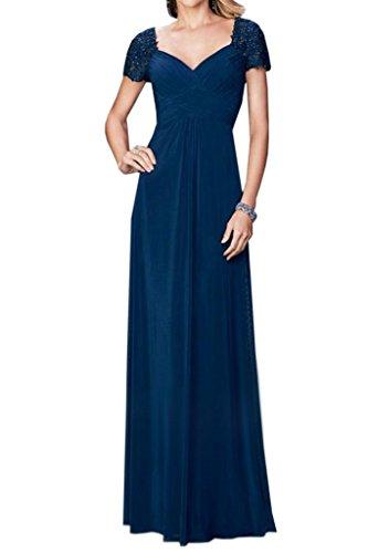 Dunkel Blau Jugendweihe Brautmutterkleider Langes Kleider A linei Kleider La Bodenlang Braut Formal mia Abendkleider qOWwX7f