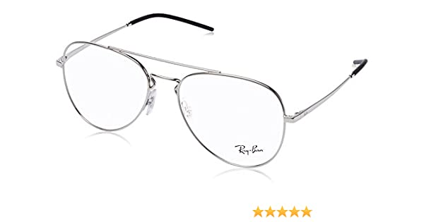 d88555c49b Amazon.com  Ray-Ban 0rx6413 No Polarization Aviator Prescription Eyewear  Frame