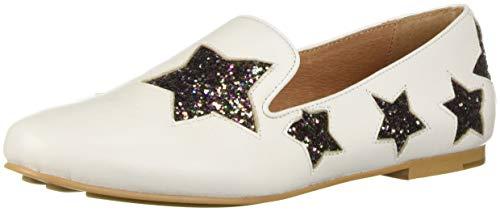 Gentle Souls by Kenneth Cole Women's Eugene Multi Star Loafer Shoe, white, 7.5 M US