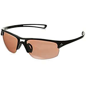 adidas Raylor 2 S Non-Polarized Iridium Oval Sunglasses, Shiny Black, 60 mm