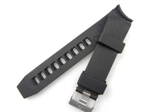 20MM 22MM. Rubber Strap Buckle for Omega Band SEAMASTER Planet Ocean (Black, 20 -