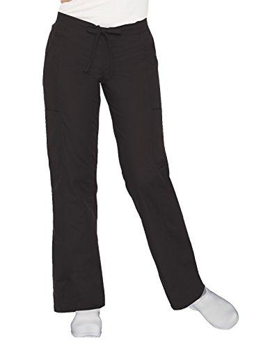Landau Women's Drawstring Front Cargo Pocket Pant, Black, Medium
