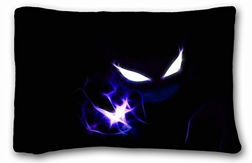 Soft Pillow Case Cover ( Anime Pokemon ) Soft Pillow Case Cover 20*30 Inch (One Sides)Zippered Pillowcase suitable for Queen-bed