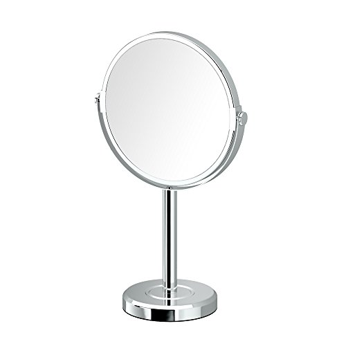 Gatco 1386C Latitude II Minimalist Bathroom Counter Top Vanity, 3x Magnification Makeup Mirror, 12.5'' Height, Chrome by Gatco