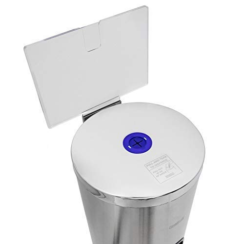 Germisept Stainless Steel Wipes Dispenser with High Capacity Built-in Trash Can and Back Door Access, with Sign Board by GERMISEPT (Image #6)